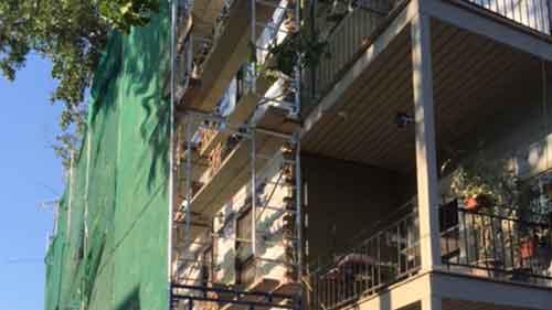 Réparations de murs de brique existants